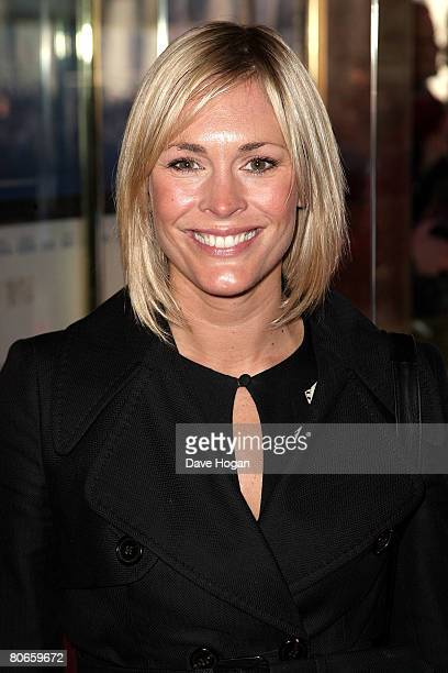TV presenter Jenni Falconer arrives at the UK premiere of 'Flashbacks of a Fool' at the Empire cinema Leicester Square on April 13 2008 in London...