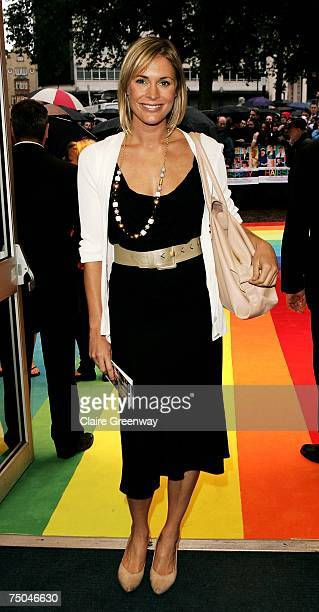 TV presenter Jenni Falconer arrives at the UK premiere of 'Hairspray' at Odeon West End on July 5 2007 in London England