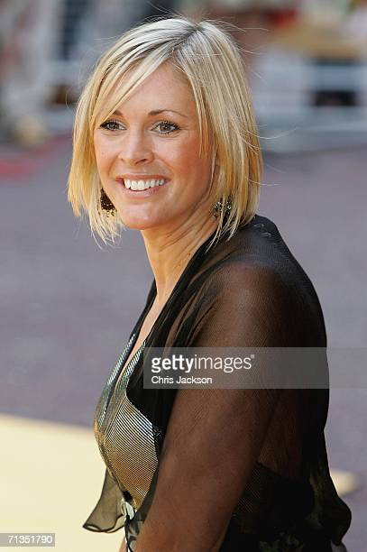 TV presenter Jenni Falconer poses for photographs at the Bob The Builder Built To Be Wild UK Premiere at the Odeon West End in Leicester Square on...