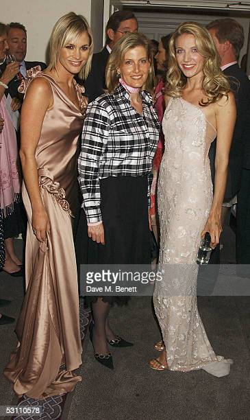 TV presenter Jenni Falconer Sophie Countess of Wessex and Summer Watson arrive at the In The Pink charity party in aid of Breast Cancer Haven at...