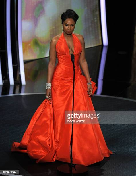 Presenter Jennifer Hudson speaks onstage during the 83rd Annual Academy Awards held at the Kodak Theatre on February 27 2011 in Hollywood California