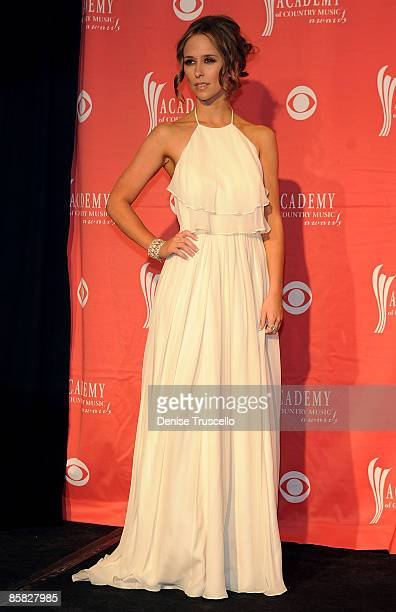 Presenter Jennifer Love Hewitt poses in the press room during the 44th annual Academy Of Country Music Awards held at the MGM Grand on April 5 2009...