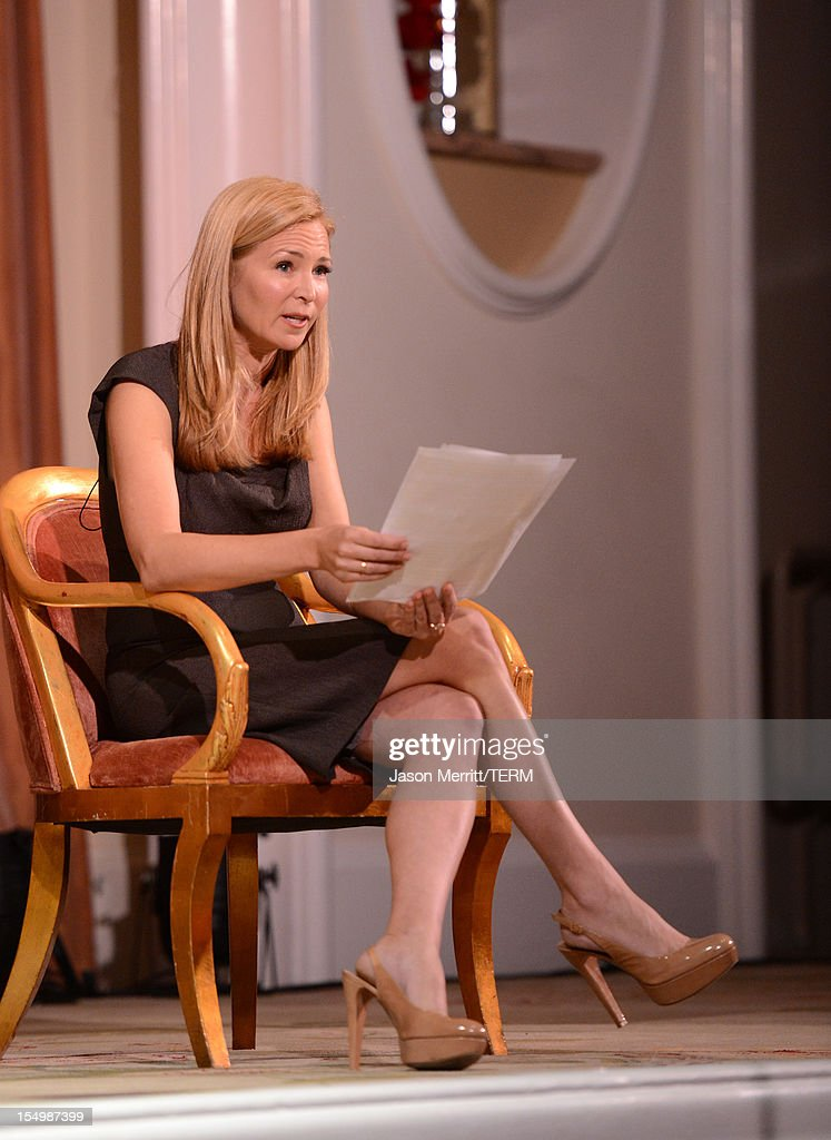 Presenter Jennifer Westfeldt speaks onstage during the 2012 Courage in Journalism Awards hosted by the International Women's Media Foundation held at the Beverly Hills Hotel on October 29, 2012 in Beverly Hills, California.