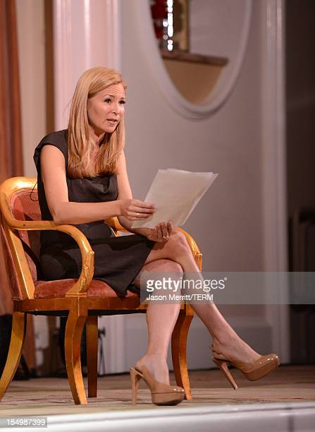 Presenter Jennifer Westfeldt speaks onstage during the 2012 Courage in Journalism Awards hosted by the International Women's Media Foundation held at...
