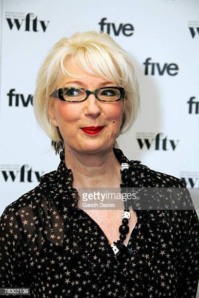 Presenter Jenny Eclair at the 'Five' Women in Film and Television Awards at the Hilton Hotel December 07 2007 in London England