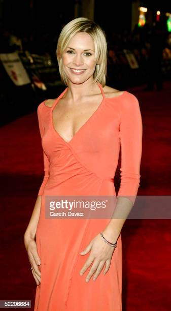 TV presenter Jenny Falconer arrives at the UK Premiere of Shall We Dance at the Odeon West End on February 16 2005 in London