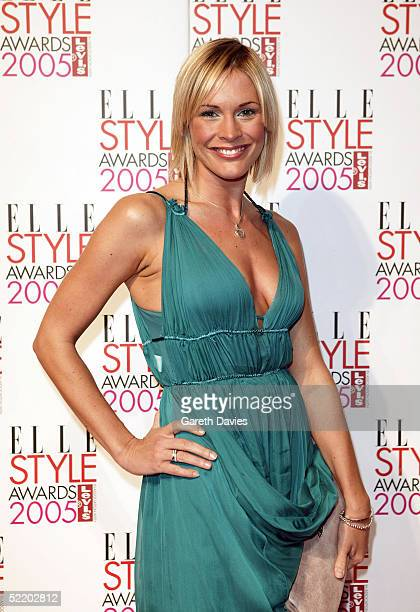 Presenter Jenny Falconer arrives for the Elle Style Awards 2005 at Spitalfields Market on February 15 2005 in London England The fashion magazine's...
