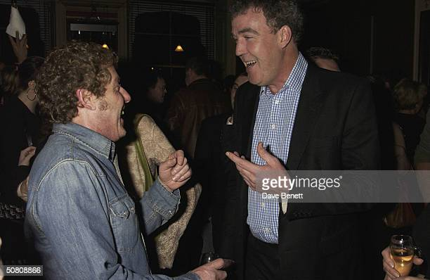 TV presenter Jeremy Clarkson and Roger Daltrey at a party thrown by Paul McKenna to celebrate his book 'Change Your Life In 7 Days' staying at the...