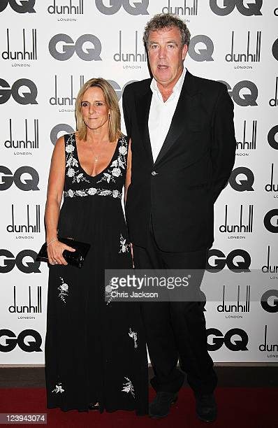 TV presenter Jeremy Clarkson and wife Frances attends the GQ Men Of The Year Awards at The Royal Opera House on September 6 2011 in London England