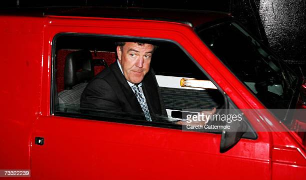 Presenter Jeremy Clarkson arrives at the BRIT Awards 2007 in association with MasterCard at Earls Court on February 14 2007 in London