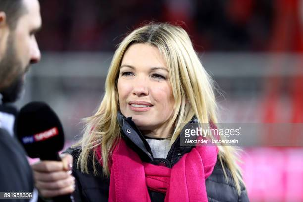 TV presenter Jessica Kastrop during the Bundesliga match between FC Bayern Muenchen and 1 FC Koeln at Allianz Arena on December 13 2017 in Munich...