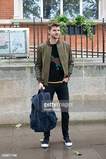 TV presenter Jim Chapman wears all Coach on day 4 of London Collections Men on June 13 2016 in London England Jim Chapman