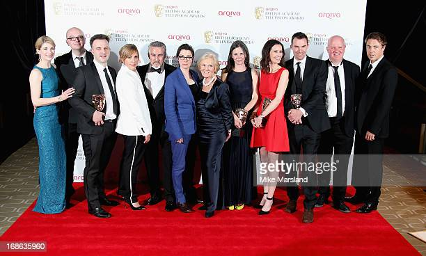 Presenter Jodie Whittaker and winners of the Best Features award for 'The Great British Bake Off' Simon Evans Kieran Smith Mel Giedroyc Paul...