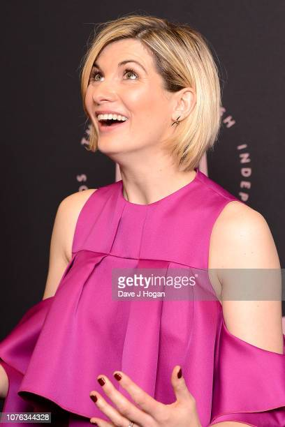 Presenter Jodie Whittaker in the winners room at the 21st British Independent Film Awards at Old Billingsgate on December 02 2018 in London England