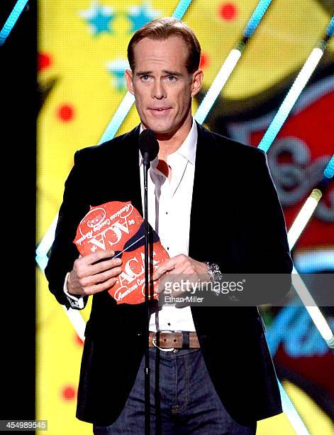 Presenter Joe Buck speaks onstage during the American Country Awards 2013 at the Mandalay Bay Events Center on December 10 2013 in Las Vegas Nevada