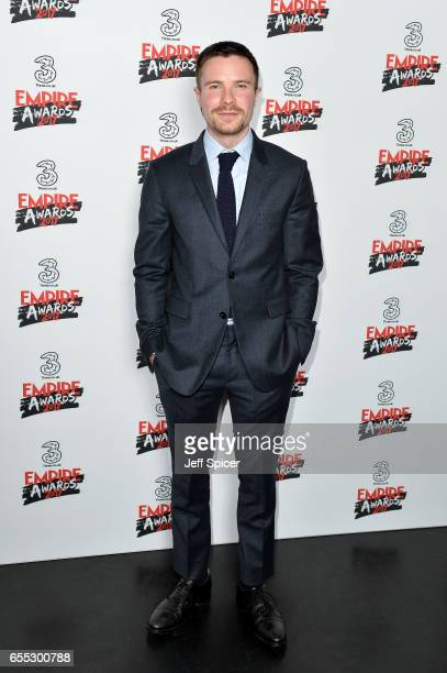 Presenter Joe Dempsie poses in the winners room at the THREE Empire awards at The Roundhouse on March 19 2017 in London England