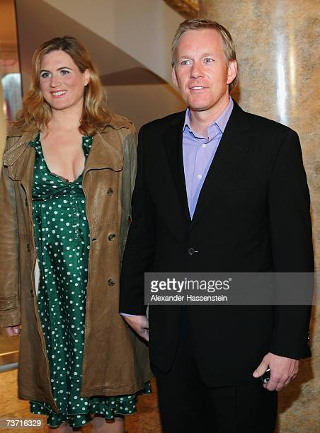 Presenter Johannes B Kerner and his wife Britta Becker arrives for the Herbert Award 2006 Gala at the Elysee Hotel on March 26 2007 in Hamburg Germany