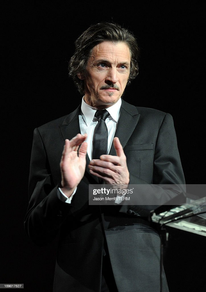 Presenter John Hawkes speaks onstage during the 24th annual Palm Springs International Film Festival Awards Gala at the Palm Springs Convention Center on January 5, 2013 in Palm Springs, California.