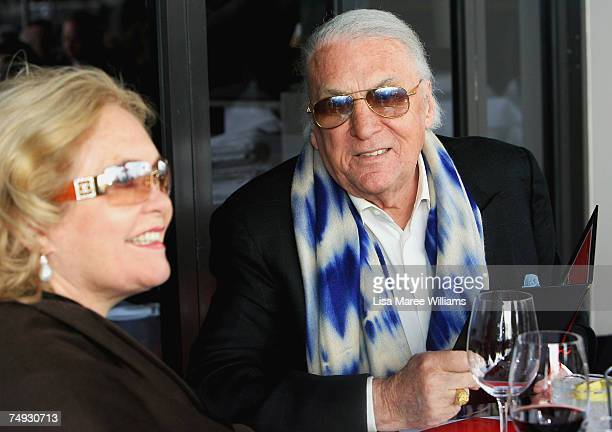 Presenter John Laws attends the Variety Wharfies Lunch Sydneys longest lunch which sees the restaurants of Woolloomooloos finger wharf come together...