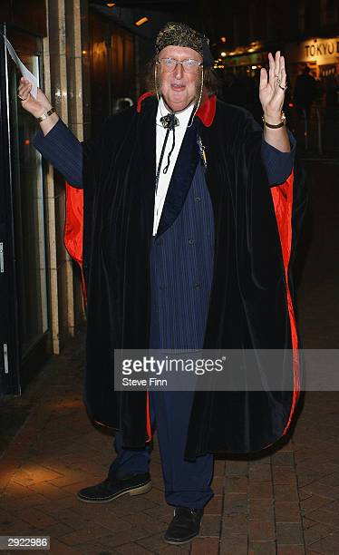 TV presenter John McCririck the UK Premiere of Charlie at the Warner Village Cinema West End on February 2 2004 in London Charlie is the story of...