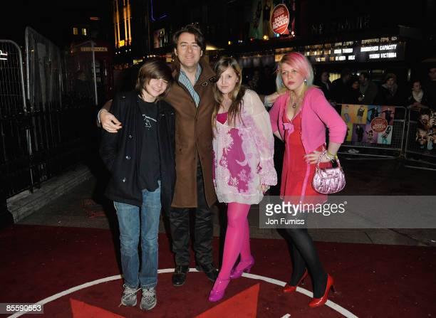 "Presenter Jonathan Ross and family attends ""The Boat That Rocked"" world premiere at the Odeon Leicester Square on March 23, 2009 in London, England."