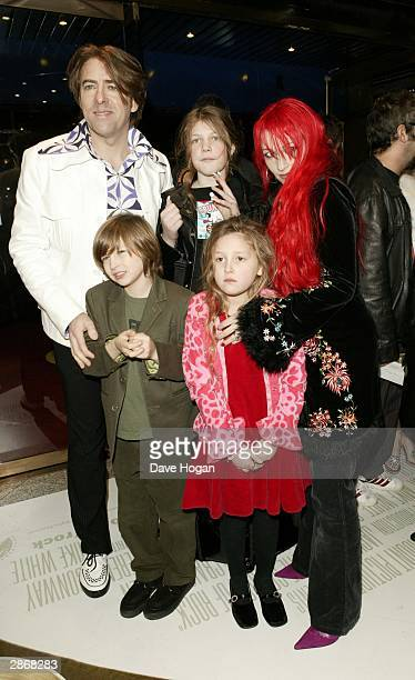 "Presenter Jonathan Ross and his family arrive at the UK premiere of ""School Of Rock"" at the Empire Leicester Square January 14, 2004 in London."