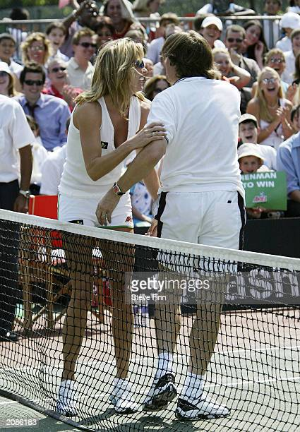 "Presenter Jonathan Ross at the ""Ariel Champions Of The Future"" celebrity tennis tournement at Regents Park Tennis Club on June 16, 2003 in London."