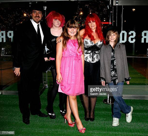 Presenter Jonathan Ross , his wife Jane Goldman and their children Betty, Honey and Harvey arrive at the UK premiere of 'Stardust' at the Odeon...