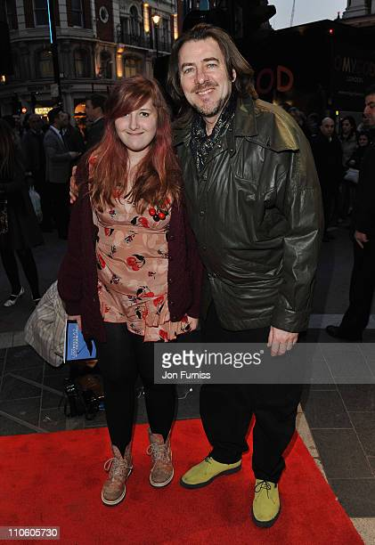 "Presenter Jonathan Ross with his daughter Honey Kinny attend ""The Umbrellas of Cherbourg"" Theatre Press Night at the Gielgud Theatre on March 22,..."