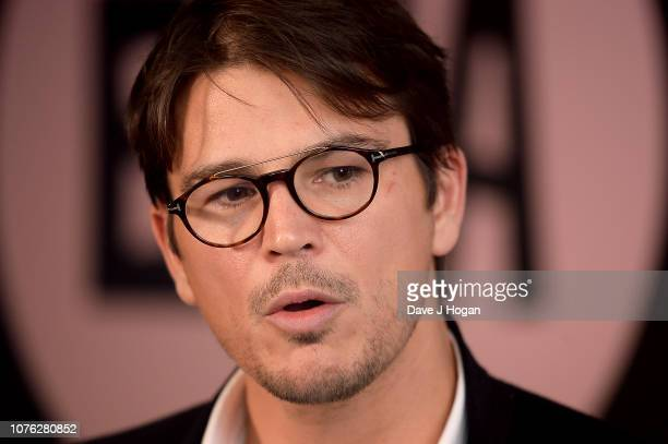 Presenter Josh Harnett poses in the winners room at the 21st British Independent Film Awards at Old Billingsgate on December 02, 2018 in London,...
