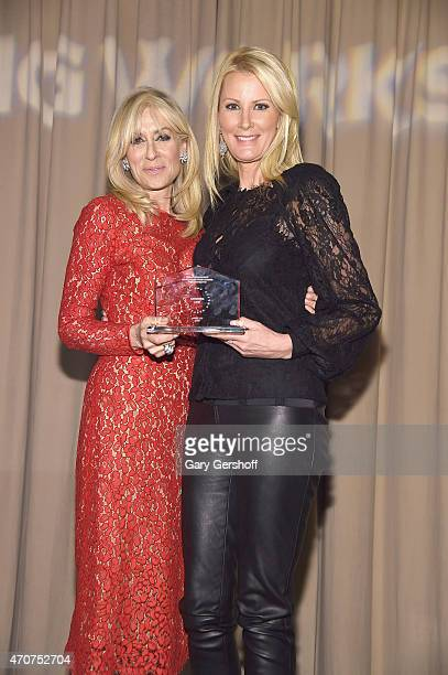 Presenter Judith Light and event honoree Sandra Lee attend the Housing Works Groundbreaker Awards 2015 at Metropolitan Pavilion on April 22 2015 in...