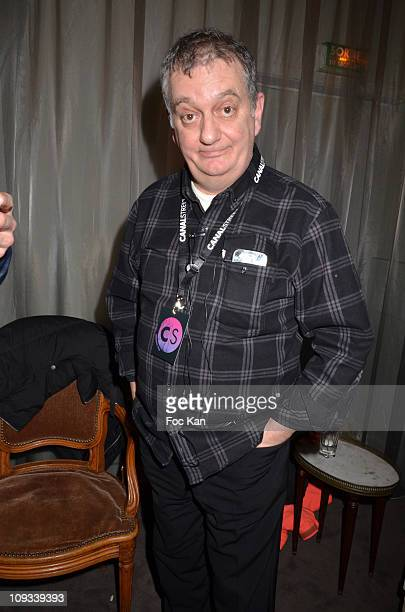Presenter Jules Edouard Moustic aka Christian Borde attends the 'Canal Street' Concert Party at Cafe Carmen on January 26, 2011 in Paris, France.