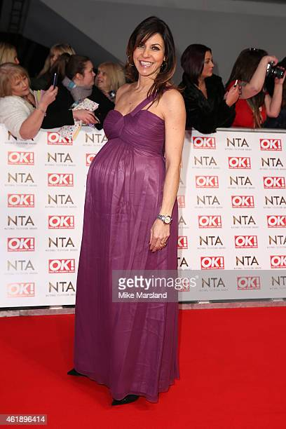 TV presenter Julia Bradbury attends the National Television Awards at 02 Arena on January 21 2015 in London England