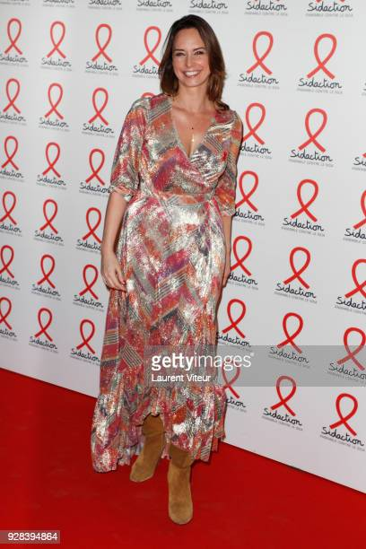 Presenter Julia Vignali attends Sidaction 2018 Launch at Musee du Quai Branly on March 5 2018 in Paris France