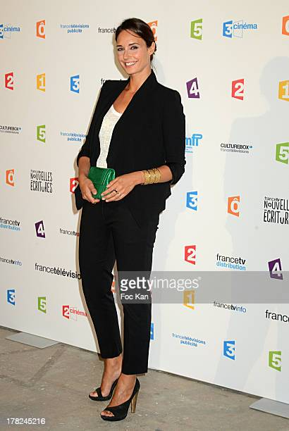 TV presenter Julia Vignali attends the 'Rentree France Televisions' photocall at Palais de Tokyo on August 27 2013 in Paris France