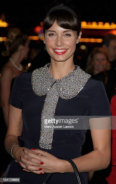 TV presenter Julia Vignali poses at Canal Private Party at L'Arc on September 15 2010 in Paris France