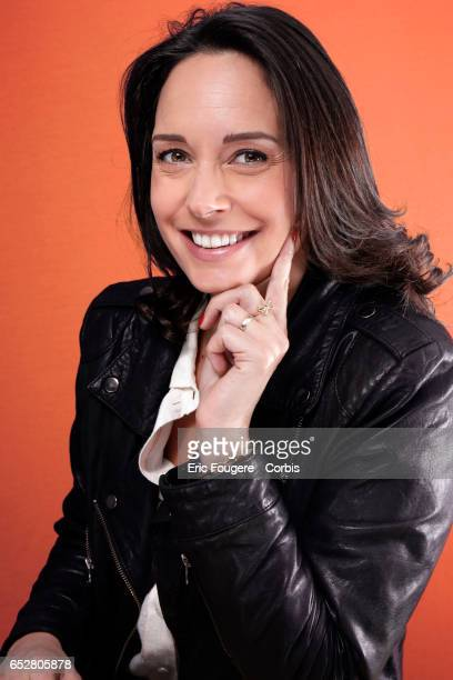 Presenter Julia Vignali poses during a portrait session in Paris France on