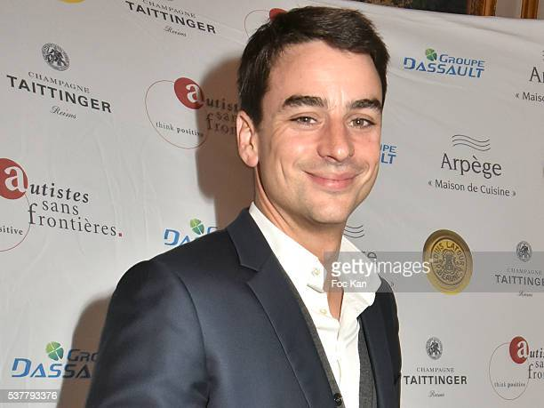 TV presenter Julian Bugier attends 'Autistes Sans Frontieres' Gala Dinner Arrivals at Hotel Marcel Dassault on June 2 2016 in Paris France