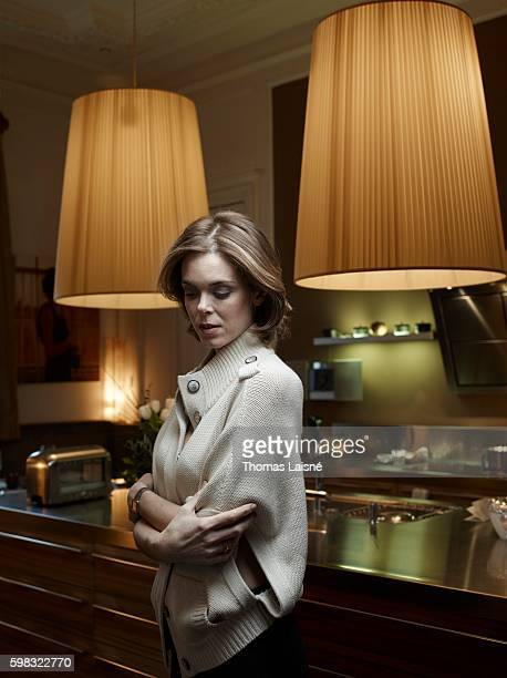 TV presenter Julie Andrieu is photographed for Self Assignment on January 28 2011 in Paris France