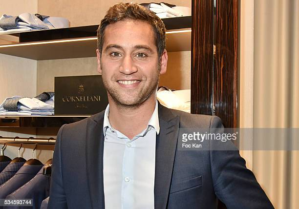 TV presenter Julien Benedetto from France2 attends Corneliani Paris Shop Opening Party on May 26 2016 in Paris France