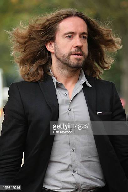 Presenter Justin Lee Collins arrives at St Albans Crown Court on October 8 2012 in St Albans England The Jury is expected to deliver a verdict today...