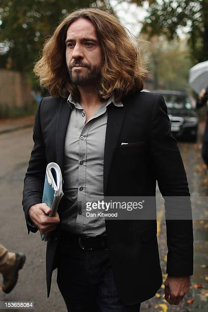 Presenter Justin Lee Collins leaves St Albans Crown Court on October 8, 2012 in St Albans, England. The trial continues after Mr Collins denies...