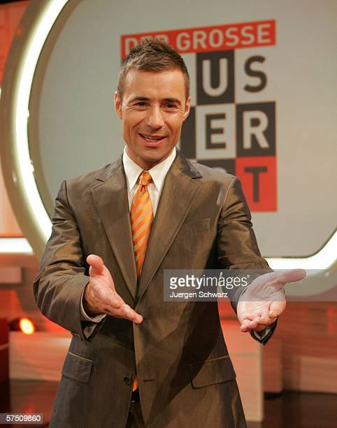 Presenter Kai Pflaume poses after the Sat1 TV show Der grosse Haustiertest May 1 2006 in Cologne Germany