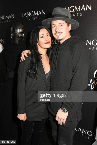 TV presenter Karima Charmi and Cris Cab attend the Star Wars Party at Le Saint Fiacre on December 12 2017 in Paris France
