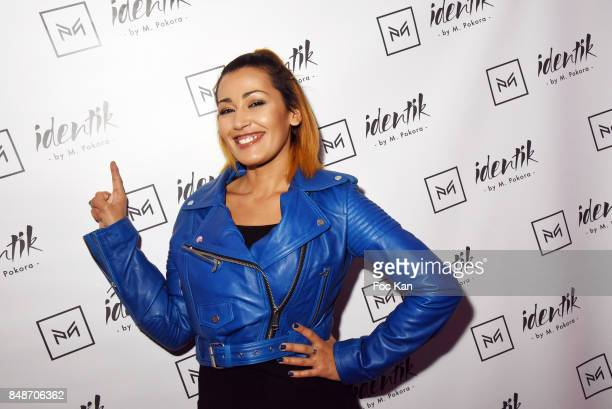 TV presenter Karima Charni attends 'Identik' by M Pokora Launch Party at Duplex Club on September 17 2017 in Paris France