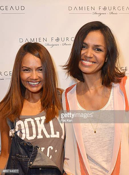 TV presenter Karine Arsene and TV presenter Laurence Roustandjee attend the 'Damien Fourgeaud' Eyeglasses Launch Party at Lissac Saint Placide on...