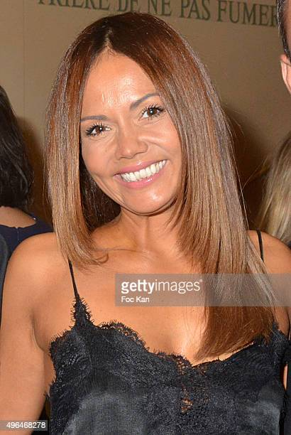 TV presenter Karine Arsene attends '23rd Gala Pour L'Espoir 2015' Auction Show To Benefit Against Cancer Associations at Theatre des Champs Elysees...