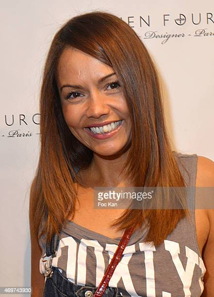 TV presenter Karine Arsene attends the 'Damien Fourgeaud' Eyeglasses Launch Party at Lissac Saint Placide on April 14 2015 in Paris France