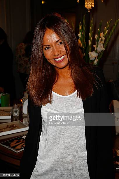 Presenter Karine Arsene attends the Stella Dot Cocktail Party To Benefit Octobre Rose on October 15 2015 in Paris France