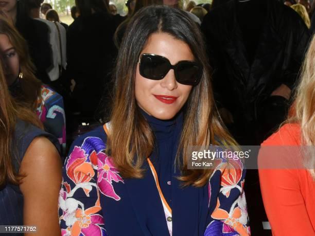 TV presenter Karine Ferry attends the Leonard Paris Womenswear Spring/Summer 2020 show as part of Paris Fashion Week on September 27 2019 in Paris...